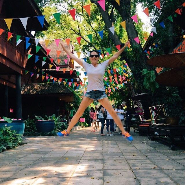 "Jumping Jaxy emoji // at ""The Legendary American of Thailand""—Jim Thompson's house"