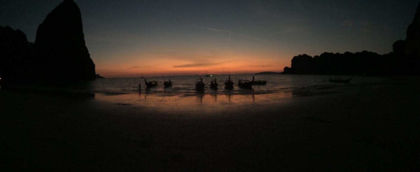 Sunset on Railay West beach.