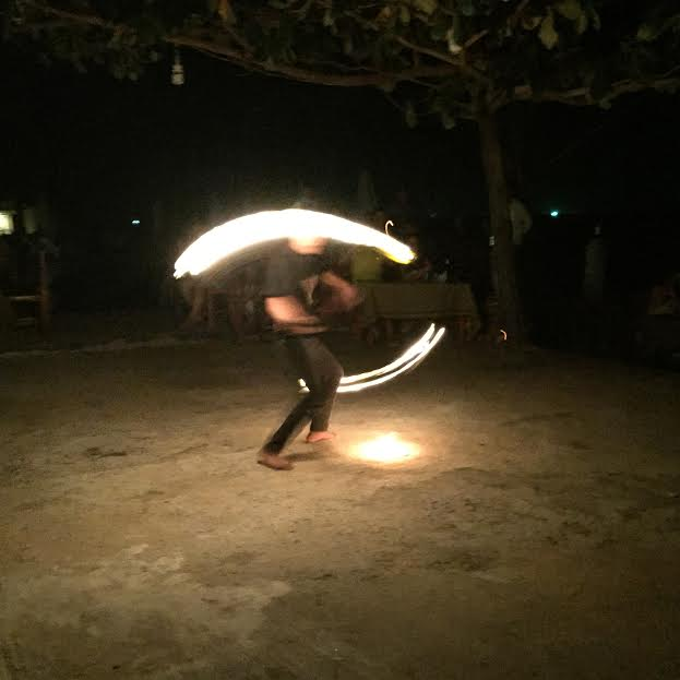 Poi or fire dancing at the dinner show!
