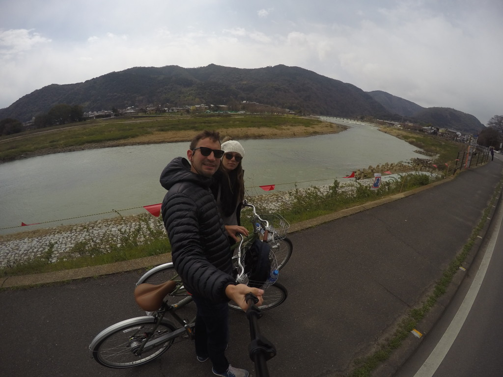 Biking in Arashiyama Kyoto