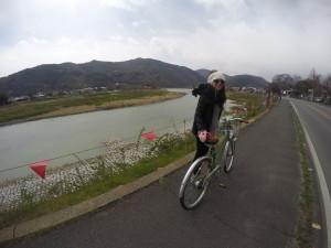 Biking in Arashiyama Kyoto