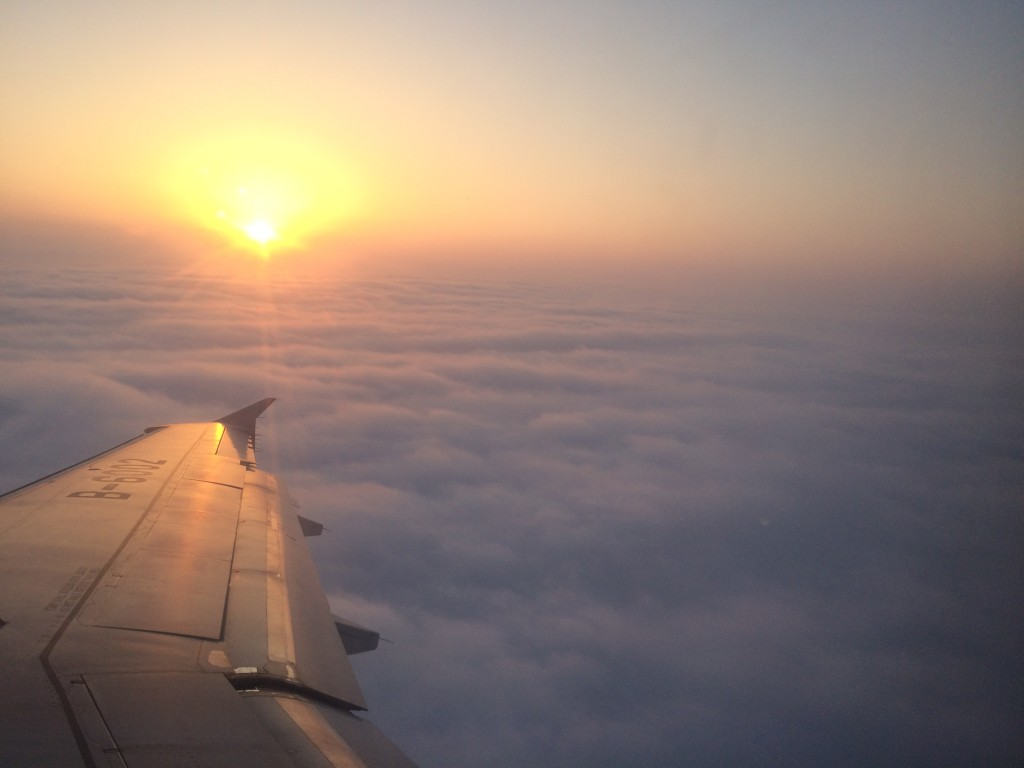 Flight from Hong Kong to Shanghai
