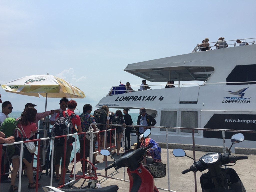 The high-speed Lomprayah ferry to Ko Tao.