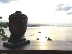 Buddha over the Ocean at Sunset Bar in Ko Samui