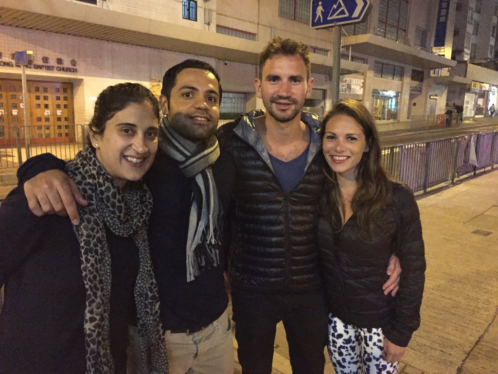 Outside of Sepa Restaurant with our new friends Rada and Dheeraj. We really enjoyed their company!