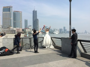 The Bund Wedding Photos in Shanghai