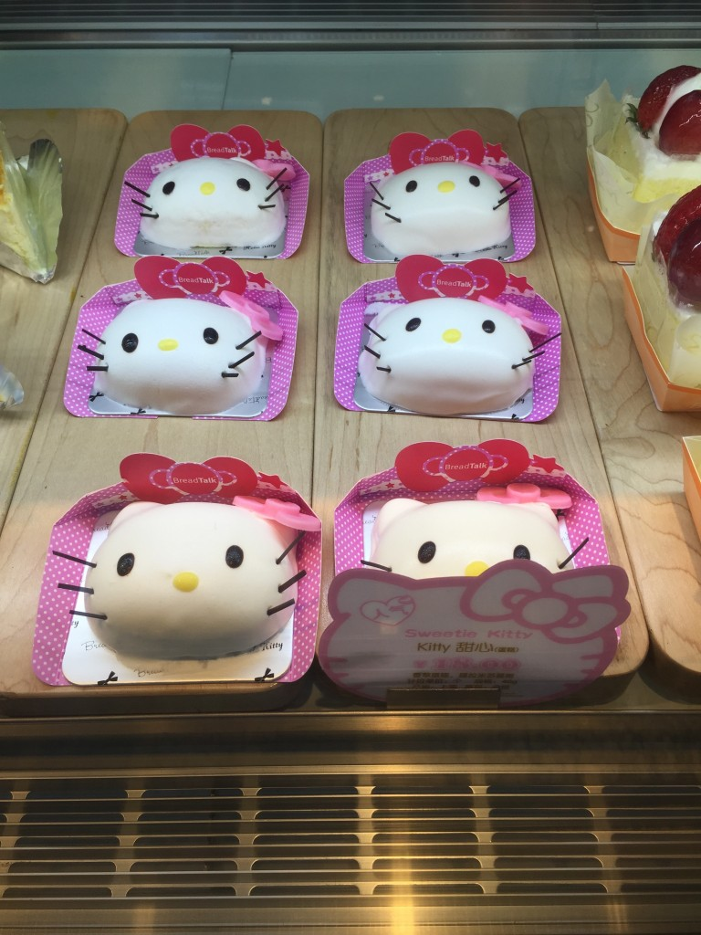 Hello Kitty at Bread Talk in Shanghai Airport