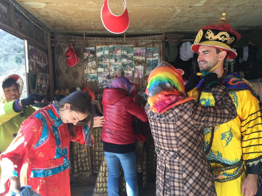 Dress up at the Huanghuacheng section of The Great Wall of China