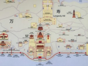 Map of the Summer Palace Beijing