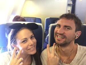 ANA flight to Japan