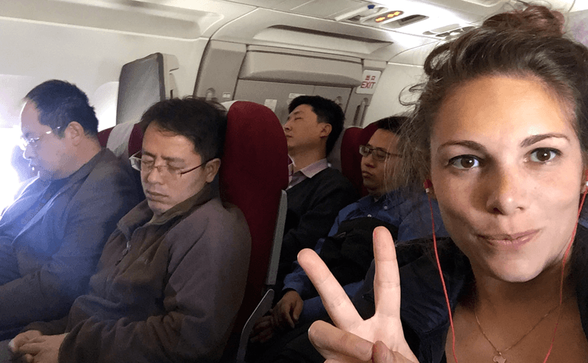 on plane to beijing peace with chinese