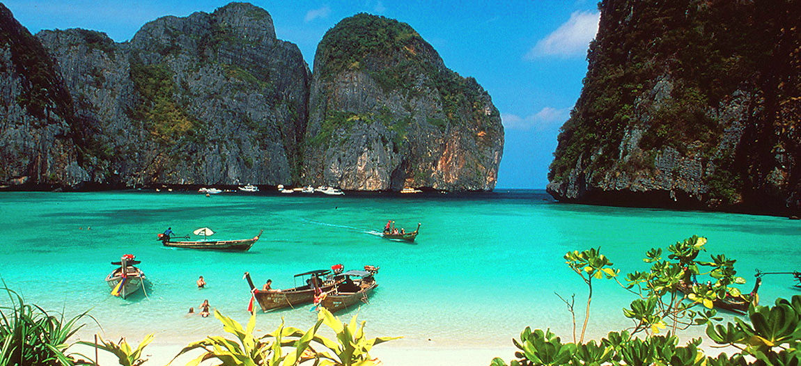 Postcard perfect Phi Phi (not our photo).