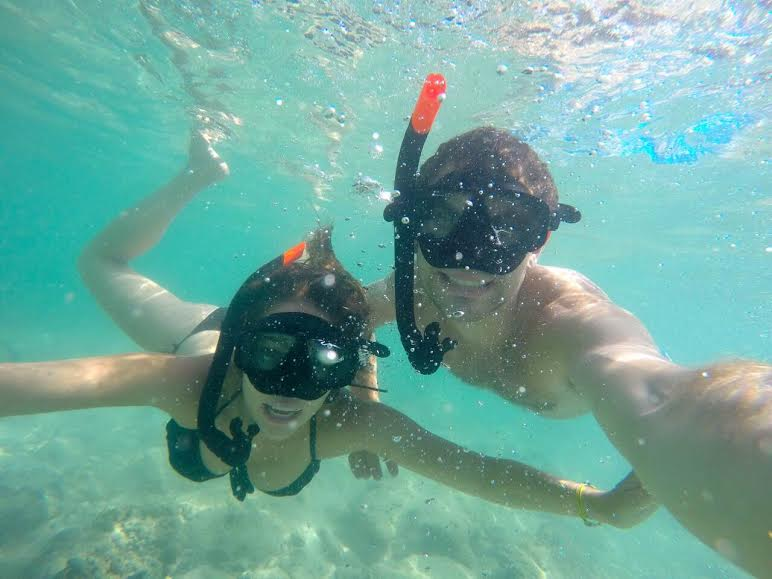 Snorkeling in the waters of Phi Phi.