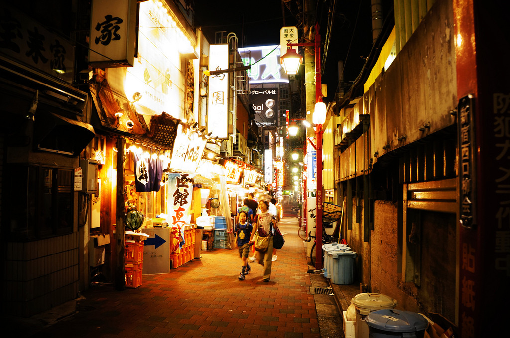 Golden Gai shinjuku at night