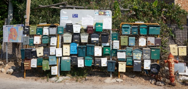 Found a few mailboxes along the drive