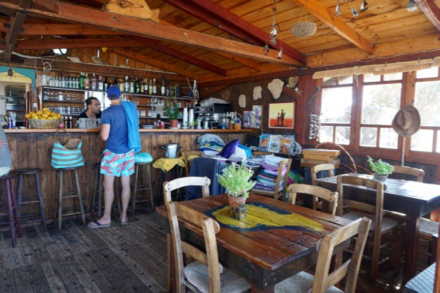 The little beach bar at Tersanas Beach