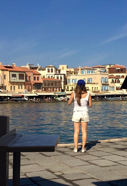 People watching in Chania