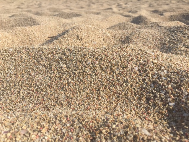 "The ""sand"" texture at Tersanas Beach"