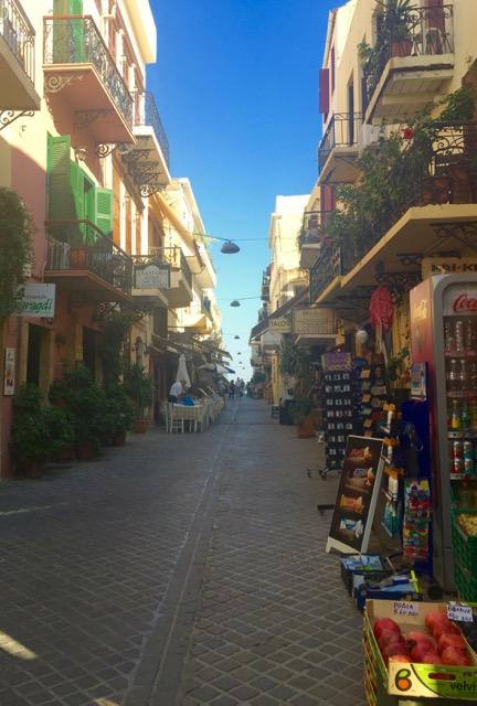 The narrow streets of Chania
