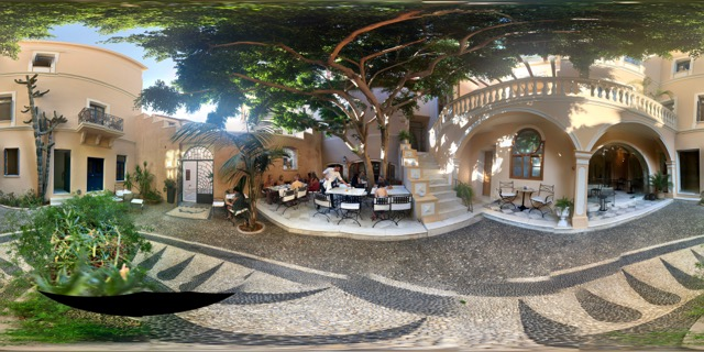 One of Daniel's 20-minute process photos of the Casa Delfino courtyard