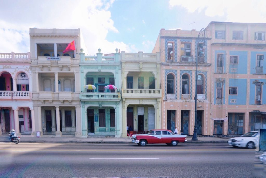 Colorful Buildings Havana Cuba